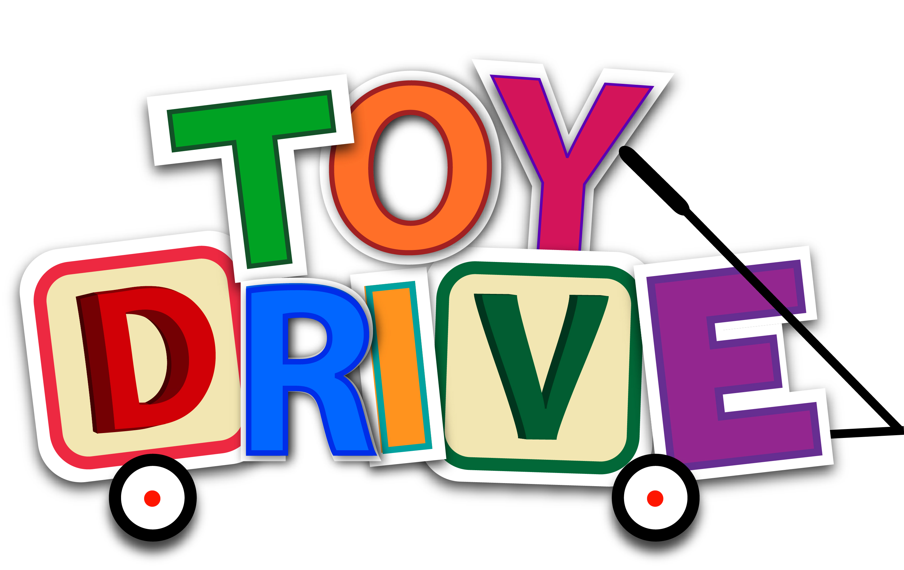 Toy Drive Logo : Stella maris academy donate to the toy drive
